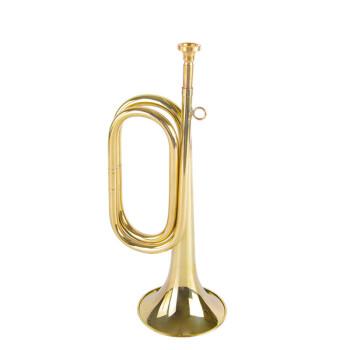 突撃号のミリタリー大股号の旧式のミリタリー・サウンドトラックの精巧な工芸楽器の銅の誕生日プレゼントの小歩号(32*11)290グラムの金は赤い布を配合します。