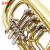 津宝楽器トーラペレットフラットボタンコルネットBb調律B BBBR-1500真鍮金三重回転弁
