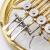 闘牛士JAZOR四ボタン単列分体式丸印B調全銅漆金丸号ゴールド