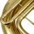 JBEP-110上の低音のフラットボタンの上の低音の号の上で低音は楽器の金色を演奏します。