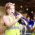 イギリスのpTrumpet皮朋プラスチック製のトランジット楽器の銅管楽器Bb tolantペレット初心者向けのレベルアップ試験演奏環境保護材料携帯オレンジ色