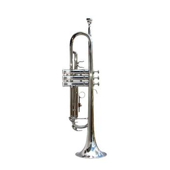 新宝ト楽器ボタンTR 500型TR 400黄铜降下B调成人初心者向进级试验楽隊演奏専用のトランペ400 Nめっきニッケル色